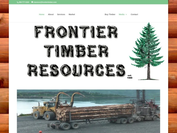 Screenshot of frontiertimber.com