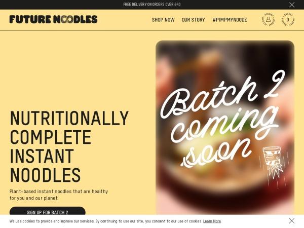 Screenshot of futurenoodles.com