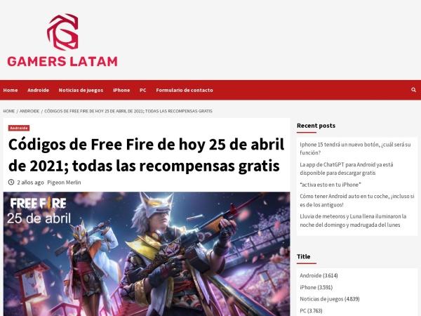 Captura de pantalla de gamerslatam.info