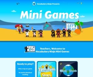 Screenshot of games.vocabularyninja.co.uk