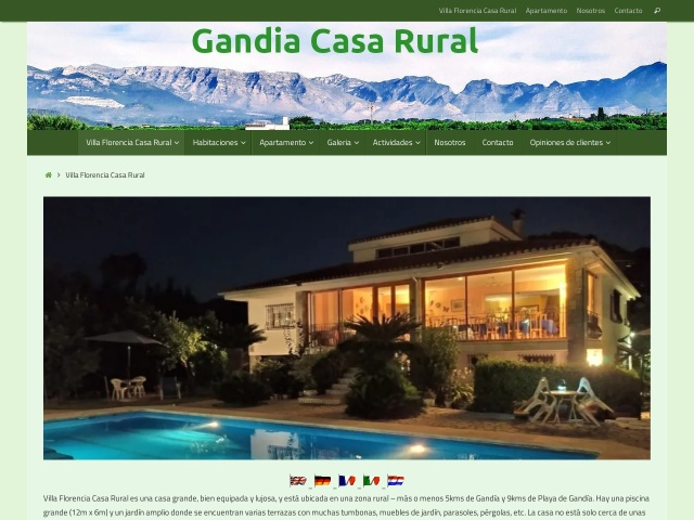 Screenshot of gandiacasarural.es