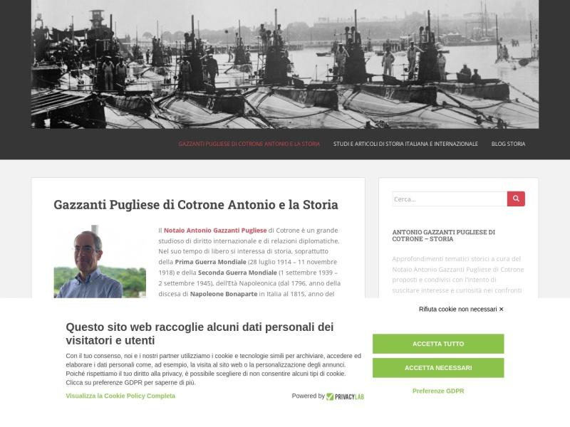 Diventa realtà il progetto web del Notaio Gazzanti Pugliese di Cotrone Antonio legato alla Storia