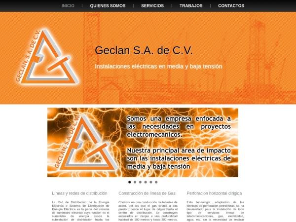 Captura de pantalla de geclan.com.mx