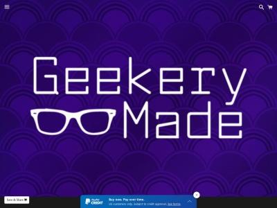 Screenshot of geekerymade.com
