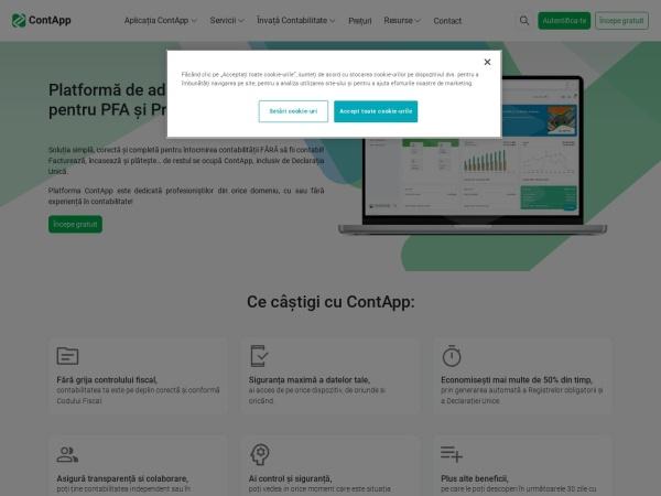 Screenshot of gestiunepfa.ro