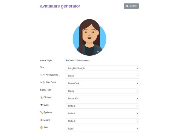 Screenshot von getavataaars.com
