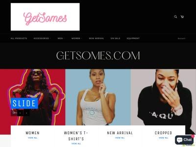 Screenshot of getsomes.com