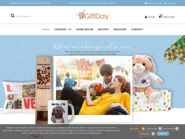 Screenshot of giftday.ro