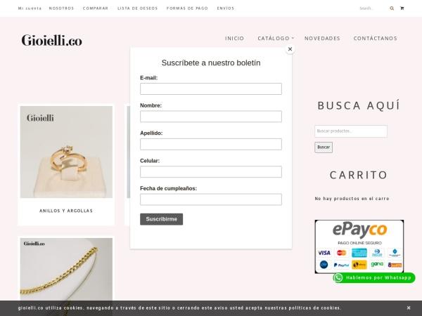 Captura de pantalla de gioielli.co