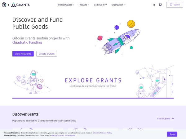 Screenshot of gitcoin.co