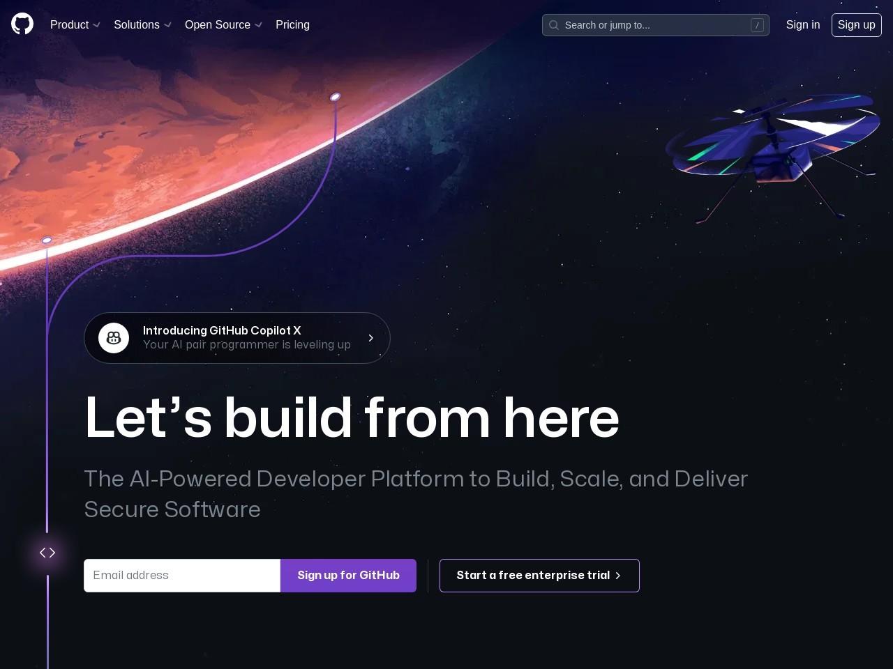 Screenshot of github.com