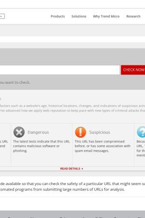 Screenshot of global.sitesafety.trendmicro.com