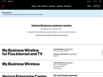 Verizon® Business Customer Service & Support
