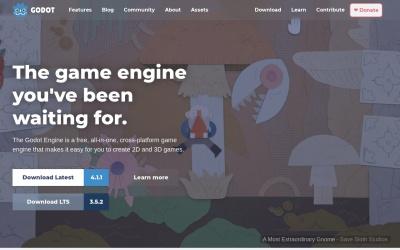 Screenshot of godotengine.org