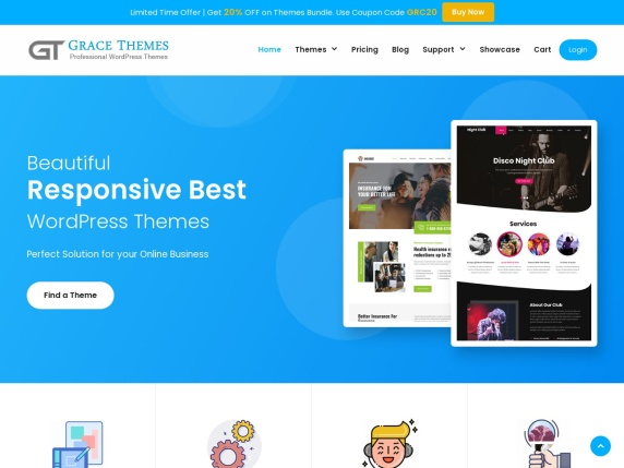 Grace  Themes homepage
