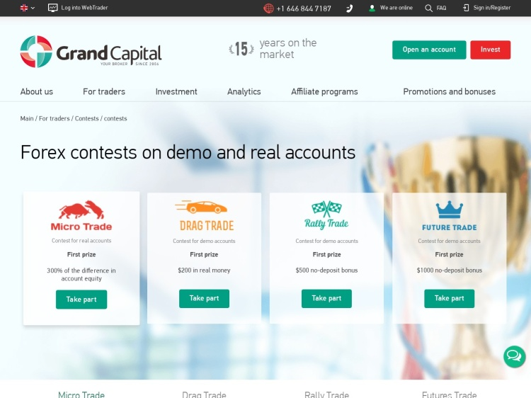 Grand Capital – $200 Withdrawable – Drag Trade