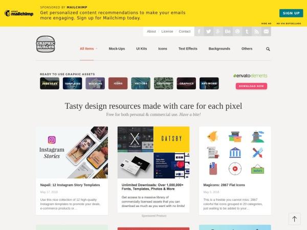 Screenshot of graphicburger.com