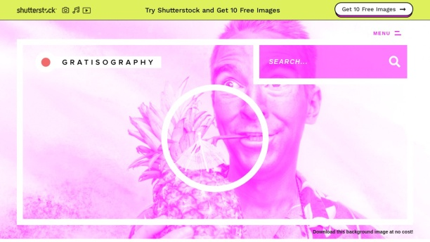 Screenshot of gratisography.com