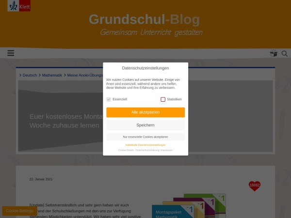 Screenshot of grundschul-blog.de