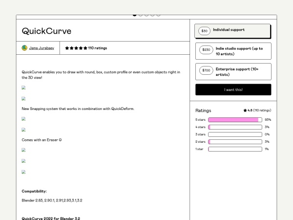 Screenshot of gumroad.com