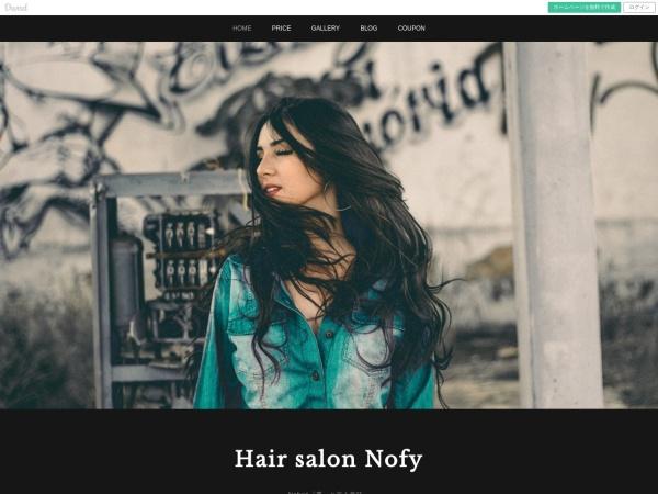 Screenshot of hairsalon-nofy.amebaownd.com