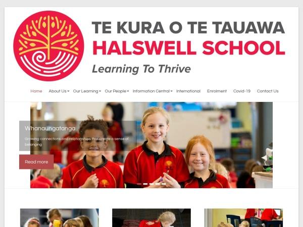 Screenshot of halswell.school.nz
