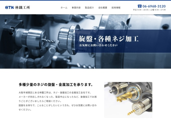 Screenshot of hayashi-works.com