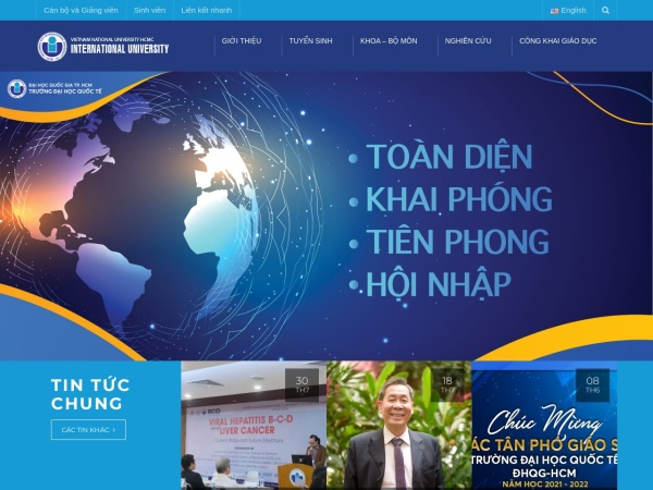Screenshot of hcmiu.edu.vn