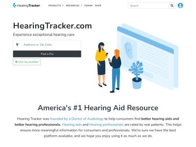 Screenshot of hearingtracker.com