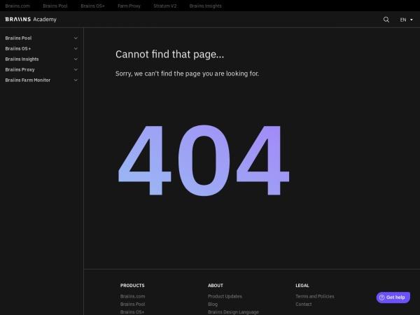 Screenshot of help.slushpool.com
