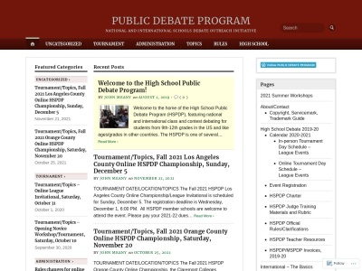 Public Debate Program Screenshot