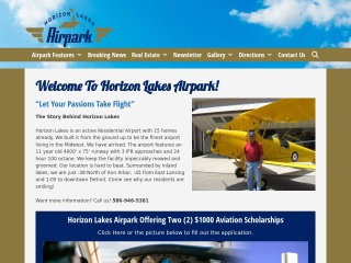 Horizon Lakes Airpark Website
