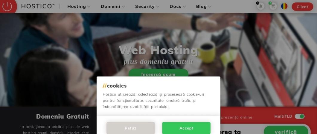 Screenshot of hostico.ro