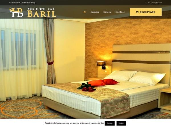 Screenshot of hotelbaril.ro