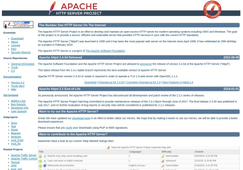 Screenshot of httpd.apache.org