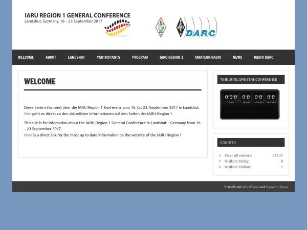 Screenshot of iaru2017.org