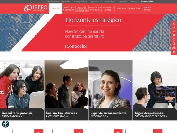 Screenshot of ibero.mx