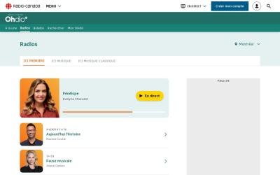 Screenshot of ici.radio-canada.ca