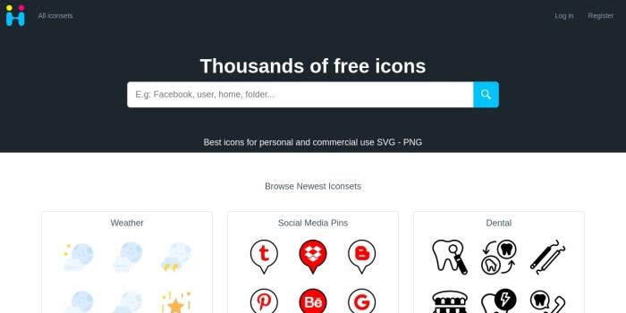 Screenshot of icon-icons.com