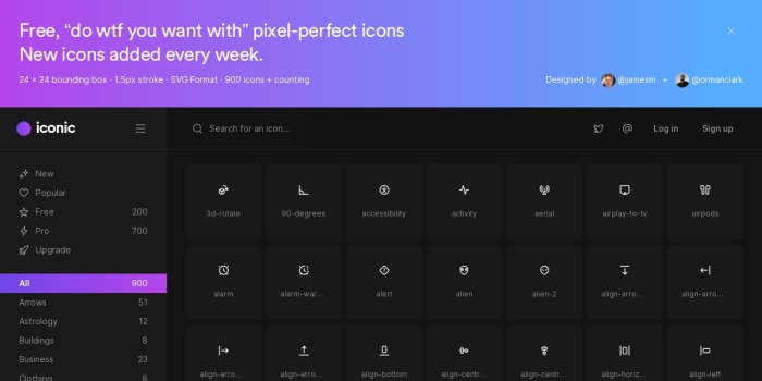 Screenshot of iconic.app
