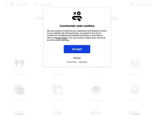 Screenshot of iconmonstr.com