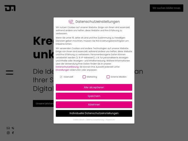 Screenshot von ideenmuehle.com
