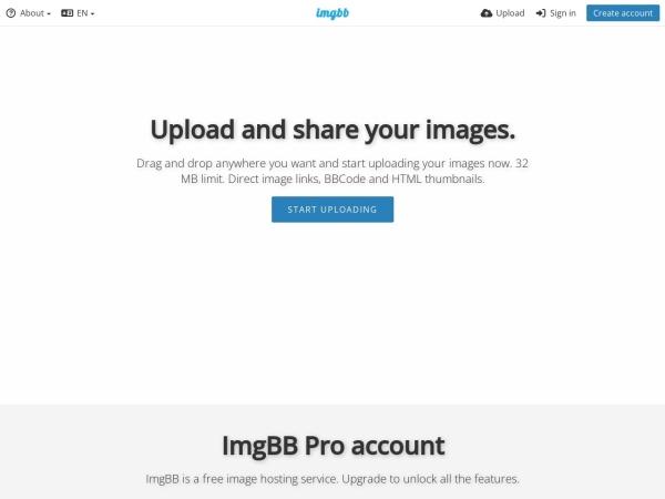 Screenshot of imgbb.com