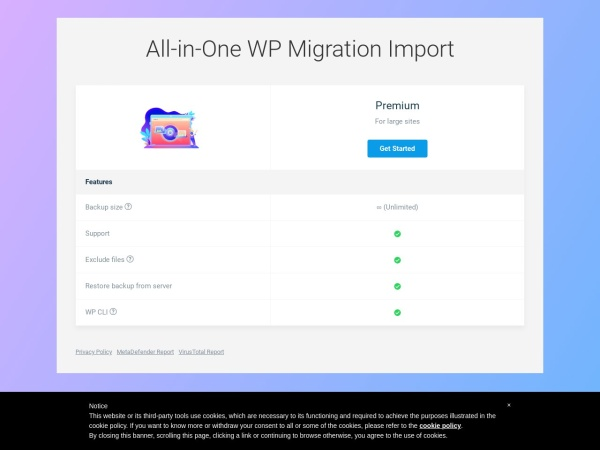 Screenshot of import.wp-migration.com