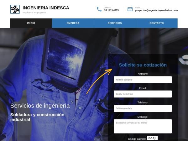 Captura de pantalla de ingenieriaysoldadura.com