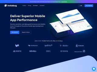 Screenshot of instabug.com