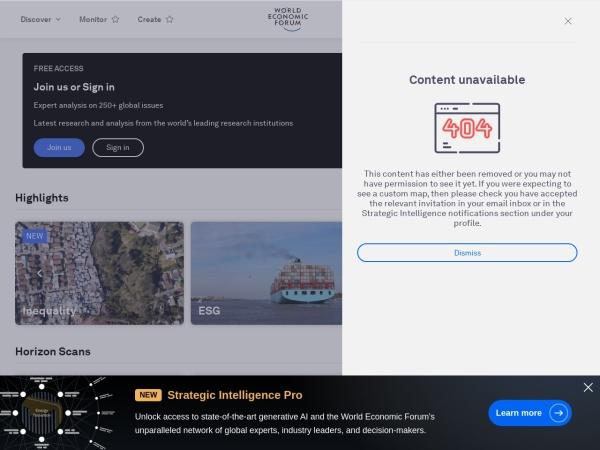 Скриншот intelligence.weforum.org