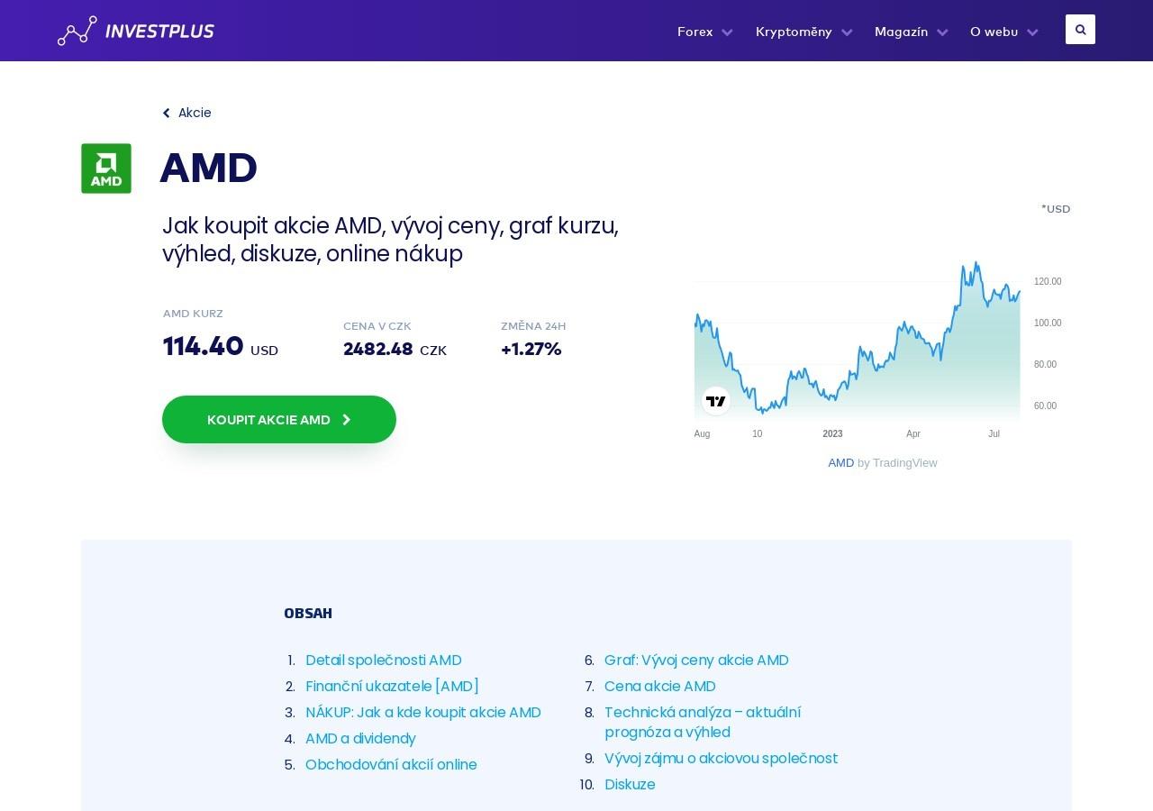 Akcie AMD: Jak koupit akcie? Info, kurz, graf vývoje ceny, nákup (Zdroj: Wordpress.com)