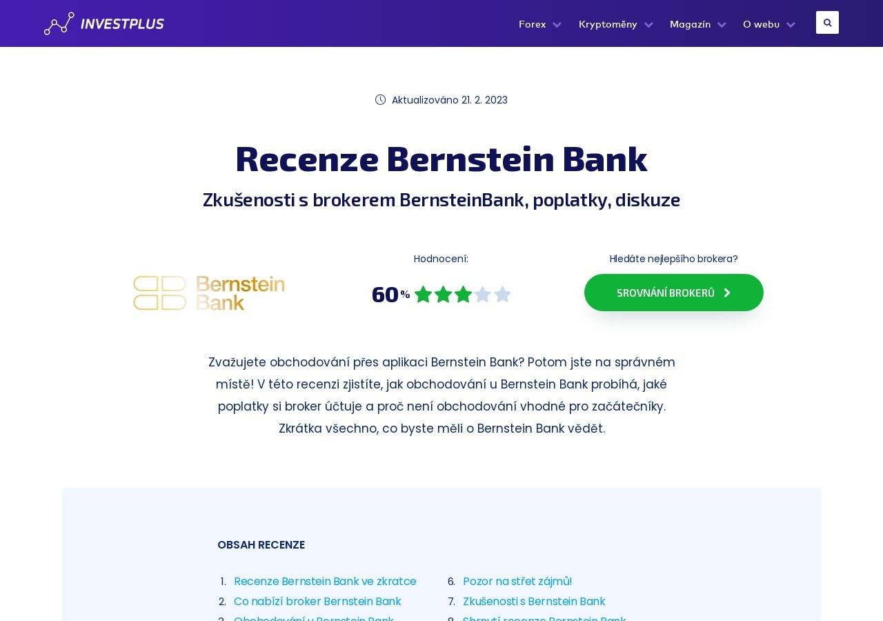 Broker Bernstein Bank – recenze, zkušenosti, poplatky, možnosti obchodování, demo (Zdroj: Wordpress.com)