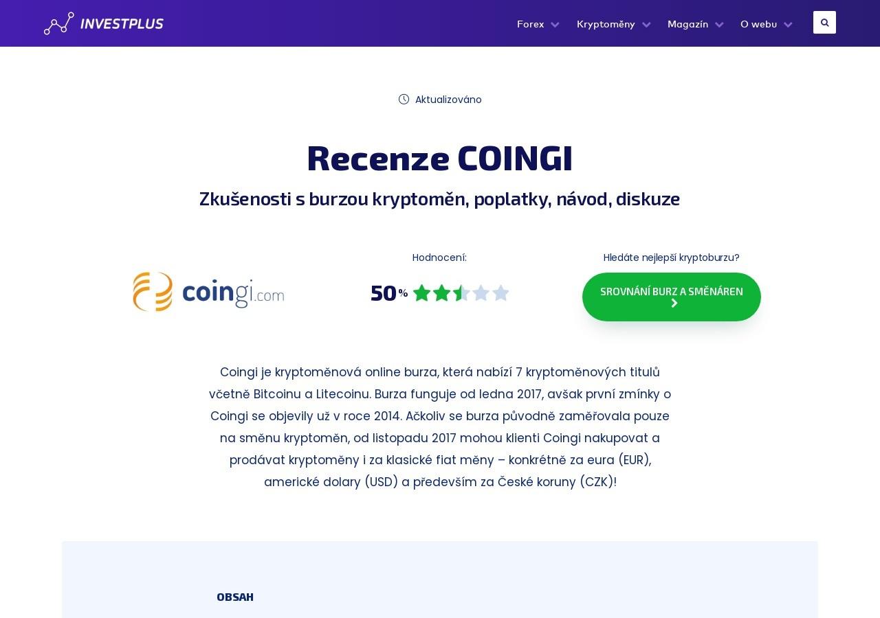 Burza kryptoměn Coingi – recenze a zkušenosti s burzou, návod, diskuze (Zdroj: Wordpress.com)